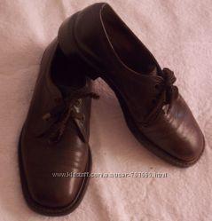 Мужские кожаные коричневые классические туфли  на шнурках - 8 размер, 27 см