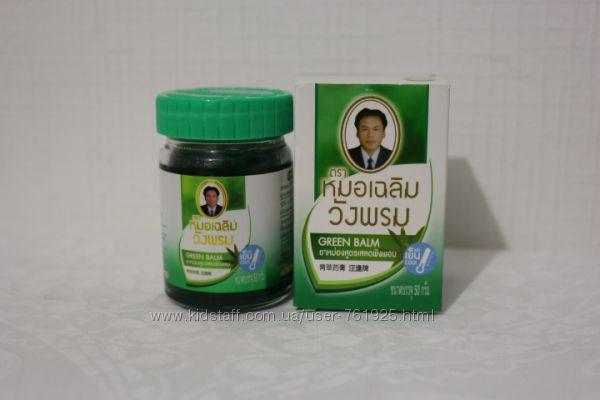 Зеленый тайский бальзам Wang Prom 50г