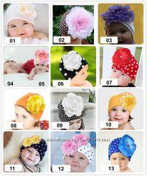 Детские шапочки с цветком