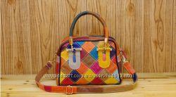 Стильные кожаные сумки, разные цвета