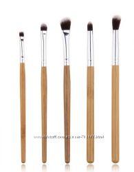 Набор кистей из бамбука 5шт , кисти для макияжа