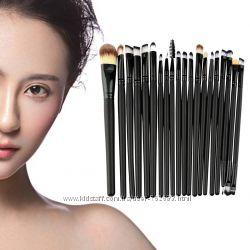Кисти для макияжа 20шт, профессиональный набор кистей