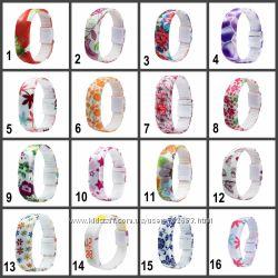 Силиконовые светодиодные Led часы-браслет с ярким, цветочным принтом