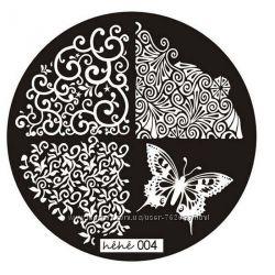 Пластина диск для стемпинга hehe 001-014, разные виды