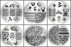 Пластины диски для стемпинга серии JQ, 75 видов