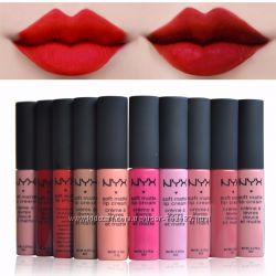 Матовая кремовая помада NYX Soft Matte Lip Cream, матовый блеск Никс наличие