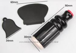 Набор для стемпинга двухсторонний, силиконовый штамп и два скребка