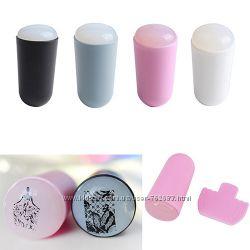 Набор для стемпинга-силиконовый штамп и скребок. Наличие, разные цвета