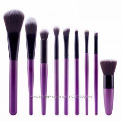 Кисти для макияжа профессиональные, полный набор из 9 кистей
