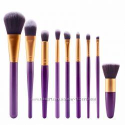 Профессиональный набор кистей для макияжа из 9 шт , кисти для макияжа