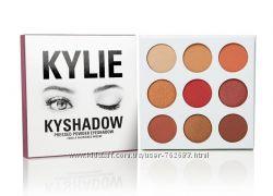 Тени Kylie Kyshadow the Burgundy Palette, палитра теней Kylie 9 оттенков