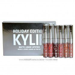 Набор матовых помад Kylie Holidey Edition Кайли 6 шт, блеск Кайли