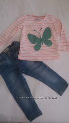 Комплект реглан  и джинсы MARKS & SPENSER 1, 5-2 года
