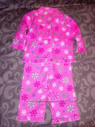 Новая пижама next хб и на баечке, теплые на 12-24 мес.