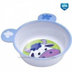 Тарелка антискользящая с ушками, меламин Canpol Babies - 4520