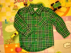 Рубашка в зелёную клетку Children Place 18-24