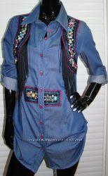 рубашка-туника, камни. размер 36 новая