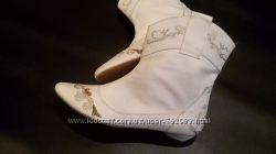 сапоги вышивка ботинки полусапоги натуральная кожа размер37