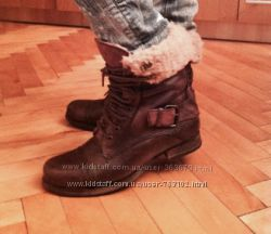 Брендовые кожаные ботинки с мехом BLINK 38