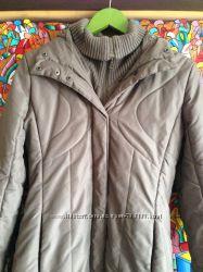 Теплое синтепоновое пальто Mango
