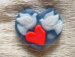Подарки на 14 февраля - День Влюбленных. Красивое мыло ручной работы.