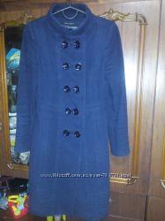 Синее пальто веснаосень Zara, XS-S, на рост до 165 см