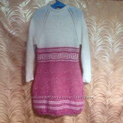 Эксклюзивное вязанное платье-туника М-L наличие