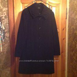 Классическое пальто деми из кашемира черного цвета L-XL