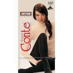 Теплые колготы CONTE Cotton 450 ден