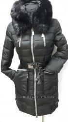 Стильні теплі зимові куртки чорні СЕЗОННИЙ РОЗПРОДАЖ