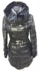 Нові зимові чорні куртки вставки з паєток акційна ціна