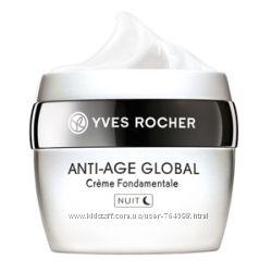 Yves Rocher Anti Age Global ночной крем против морщин