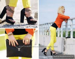 яркие лимонные джинсы Naf Naf