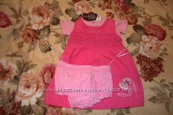 Комплект тройка Германия для девочки сарафан, футболочка, шортики 68 размер