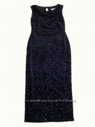 Вечернее бархатное платье Hamells, размер 36, UK 8