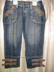 Красивые джинсовые капри, бриджи женские р. 27