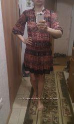 Шифоновое летнее платье с ярким орнаментом