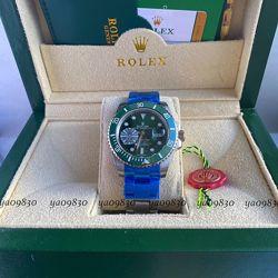 ROLEX SUBMARINER DATE STEEL GREEN