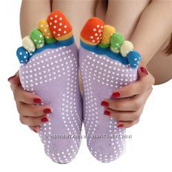 Носки с пальчиками для спорта, йоги р. 35-38