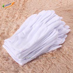 Косметические хлопковые перчатки, 6 шт.