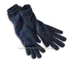 КОМПЛЕКТ. Красивые эффектные высокие сенсорные перчатки с митенками TCHIBO