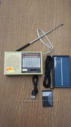 Радиоприемник, USB, SD, Li-ion аккумулятор  и солнечная панель bluetooth