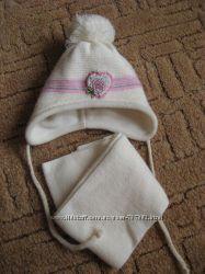Набор шапка и шарф Magrof зимний в идеальном сост. , размер 40-42