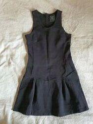 Сарафан Zara в школу черный плотный трикотаж 10-13 лет 146 см