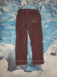 Брюки, штаны вельвет  4 года 104 рост демисезонные, бриджи 6-9 мес 1-2 года