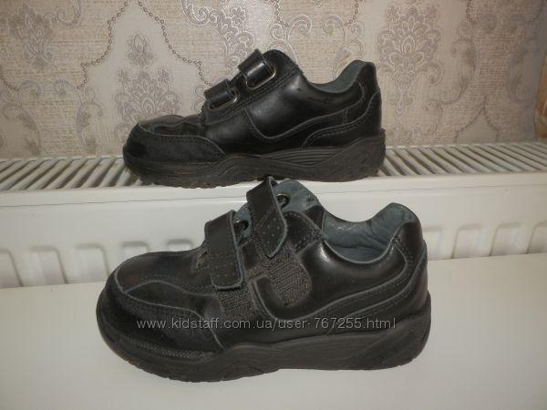 Ботинки, туфли демисезонные 28 размер кожаные черные