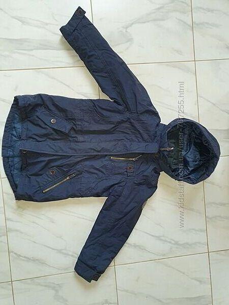 Куртка демисезонная на синтепоне 8-10 лет, рост 130-140 см синяя