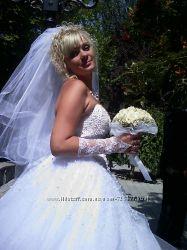 свадебное платья с жемчугом