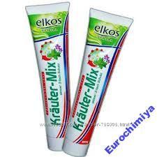 Зубная паста Elkos Krauter-Mix 125 мл Uthvfybz