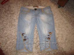 капри джинсовые фирменные, джинсы италия